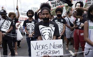 Une manifestation à Rio le 26/05/2019 contre les violences dans les favelas.