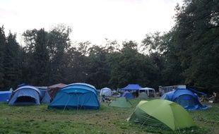 Près d'une vingtaine de tentes se trouvent désormais sur le site de la Zad de Kolbsheim contre le projet autoroutier du GCO.