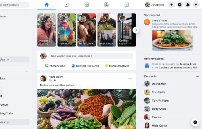 Facebook: les utilisateurs vont être forcés de passer au nouveau design