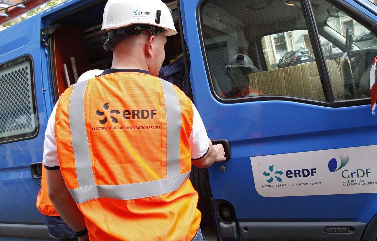 Lille, le 19 juin 2013. Illustration d'un agent ERDF (Enedis). – M.LIBERT/20 MINUTES