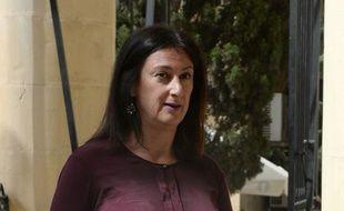 Une photo prise le 27 avril 2017 de la blogueuse et journaliste maltaise Daphne Caruana Galizia, assassinée le 16 octobre 2017.