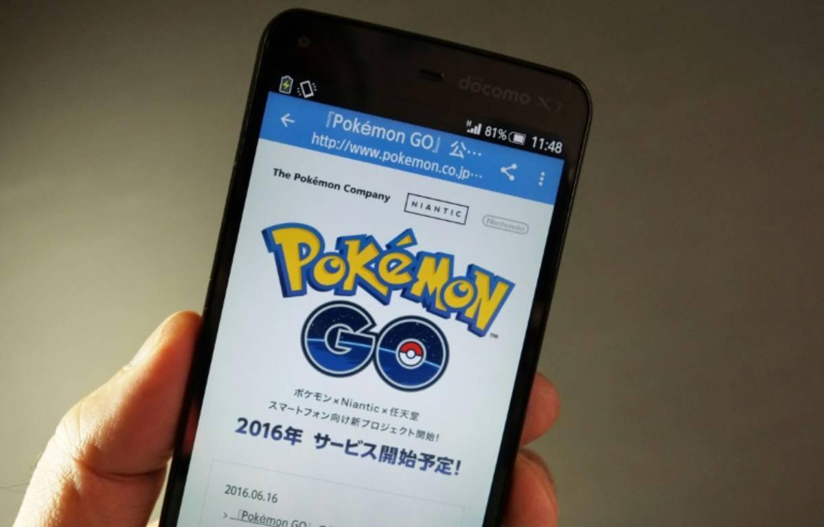 Le jeu Pokémon Go sur un téléphone portable à Tokyo le 13 juillet 2016 – KAZUHIRO NOGI AFP