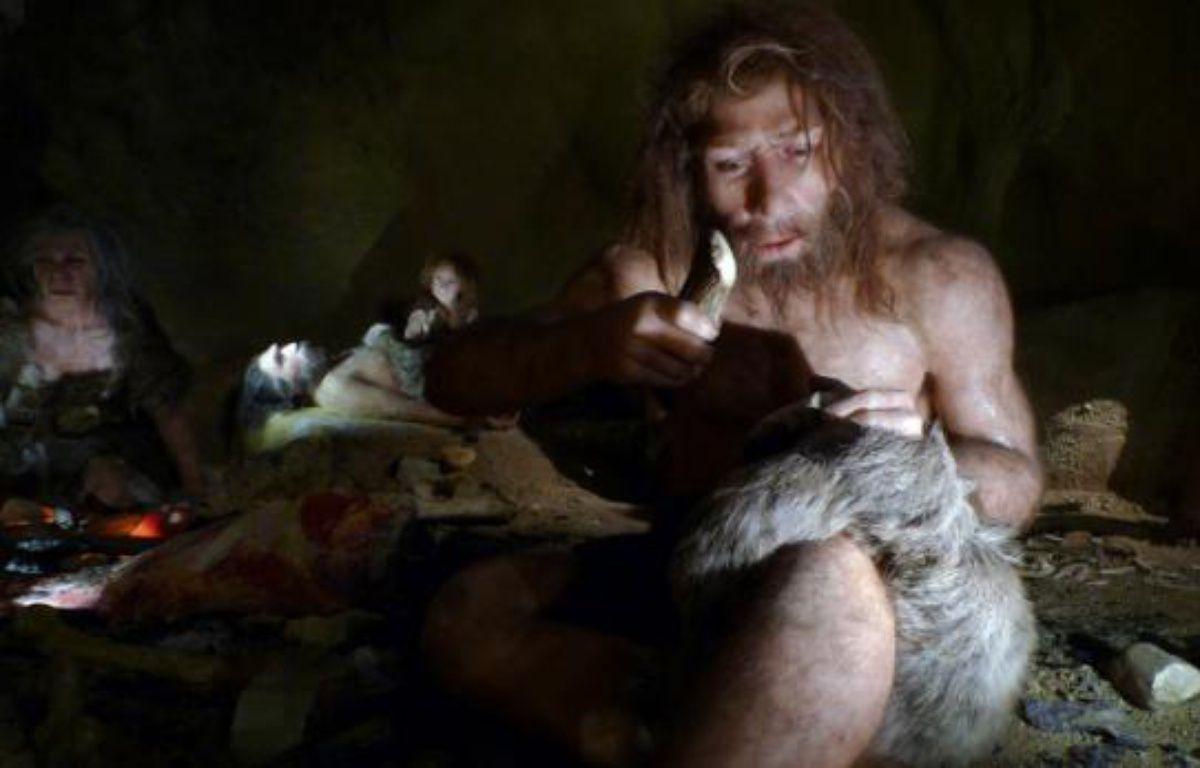 Modélisation d'un homme de Néandertal, au musée de Krapina, en Croatie. – N.SOLIC/REUTERS