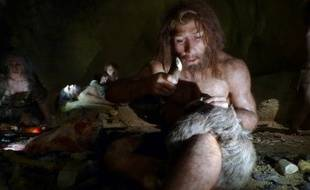 Modélisation d'un homme de Néandertal, au musée de Krapina, en Croatie.