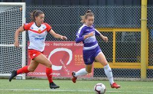 L'attaquante du CPB Bréquigny Sara Vranic face à Orléans, lors de la 3e journée du championnat de D2 féminine.