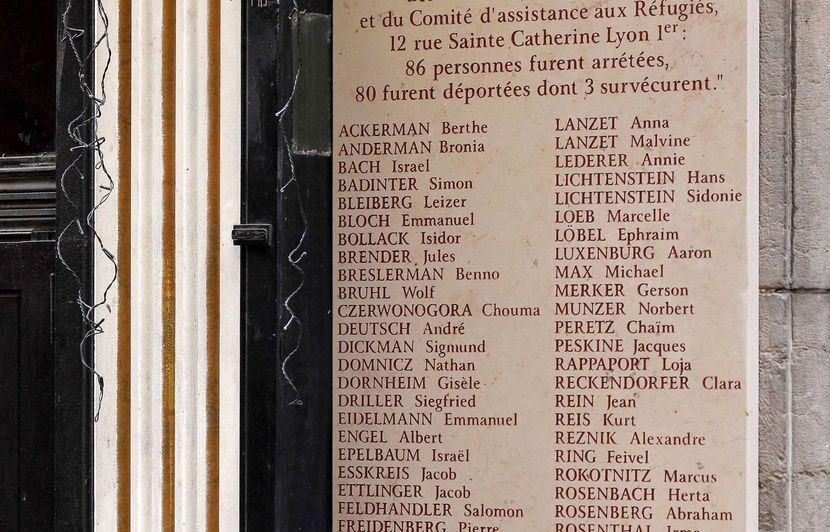 Lyon : Une plaque à la mémoire des juifs déportés vandalisée