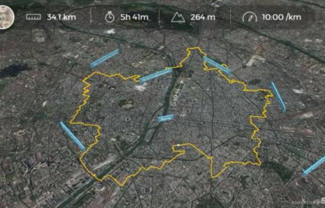 Le «GPS drawing» vu de l'application Strava.