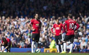 Manchester United a perdu sur la pelouse d'Everton le 26 avril 2015.
