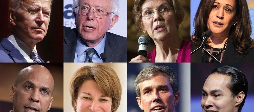 Les démocrates Joe Biden, Bernie Sanders, Elizabeth Warren, Kamala Harris, Cory Booker, Amy Klobuchar, Beto O'Rourke et Julian Castro rêvent de défier Donald Trump en 2020.