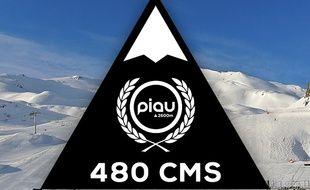 La station de Piau, la plus enneigée du monde.