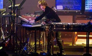 Jean-Michel Jarre sur scène à Moscou en Russie, le 18 octobre 2011.