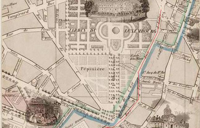 La rue d'Enfer, aujourd'hui partiellement remplacée par le boulevard Saint-Michel