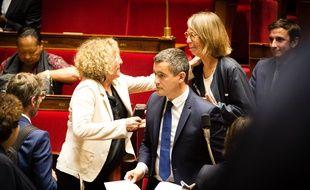 Muriel Penicaud, Gerald Darmanin et Francoise Nyssen pendant les questions au gouvernement a l'Assemblee nationale le 9 octobre 2018.