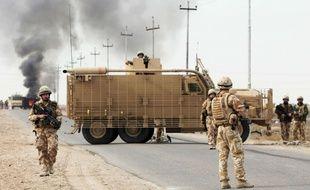 Des soldats britanniques à Basra, en Irak, en 2007.
