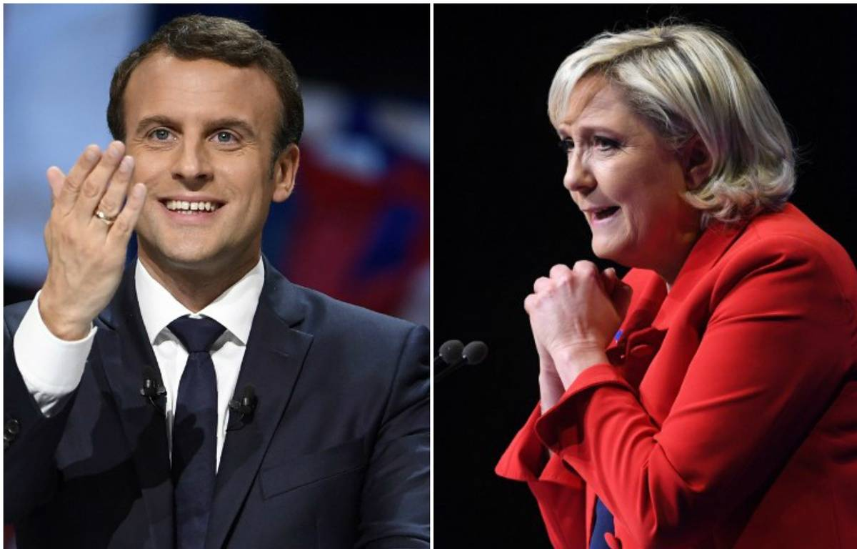 Macron et Le Pen – Photomontage