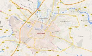 Google map de la ville d Angoulême.