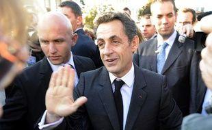 Nicolas Sarkozy à Gandrange, jeudi 15octobre.