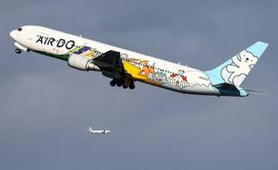 Un avion de la compagnie AirDo au-dessus de l'aéroport de Tokyo (image d'illustration).