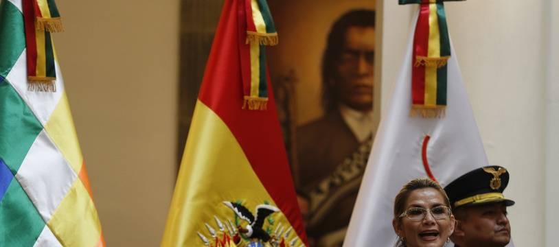 Jeanine Anez, présidente par intérim de la Bolivie, à La Paz le 20 janvier 2020.