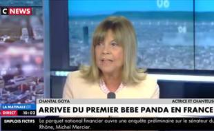 Chantal Goya prend du galon en devenant chroniqueuse pandas sur CNews.
