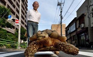 Depuis vingt ans, ce sexagénaire sans enfant prend soin de cette tortue