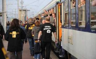 Les représentants des salariés de l'usine Continental de Clairoix sont sur le départ, mercredi 22 avril, pour se rendre à Hanovre (Allemagne) pour assister à une assemblée générale des actionnaires du groupe allemand.