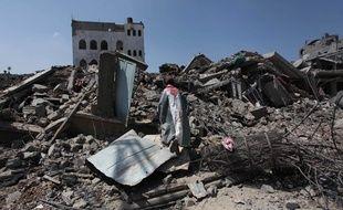 Décombres à Gaza CIty, le 28 juillet 2014.