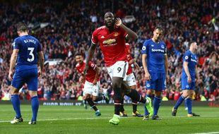 Romelu Lukaku lors du match entre Manchester United et Everton, le 17 septembre 2017.