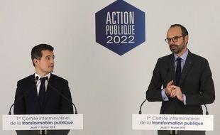 Gérald Darmanin et Edouard Philippe, le 1er février 2018