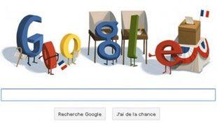Le doodle de Google se met à l'heure présidentielle, ce 6 mai 2012