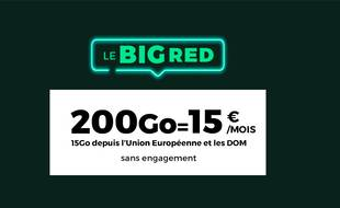 Profitez jusqu'au 20 décembre inclus du forfait inédit proposé par RED by SFR avec 200 Go + 15 Go UE/DOM pour 15 euros par mois et sans engagement.