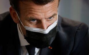 Emmanuel Macron à Créteil le 29 mars 2021.