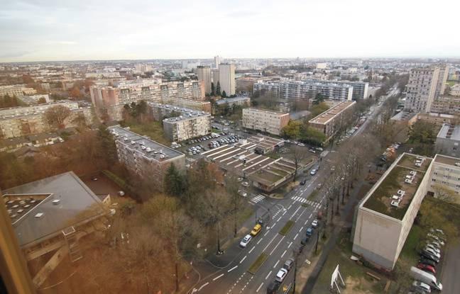 Vue de Rennes et du quartier Villejean depuis le 17e étage de la tour de la ZAC Normandie Saumurois.