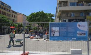 Le chantier du Vieux-Port à Marseille.
