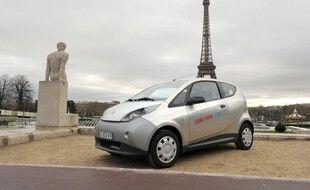 Un véhicule de la flotte Autolib', à Paris, en 2012 (illustration).