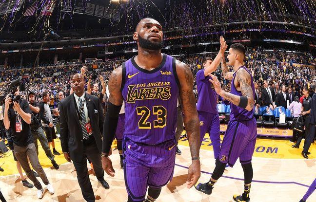 Légende: Lebron James est devenu le cinquième meilleur marqueur de l'histoire de la NBA