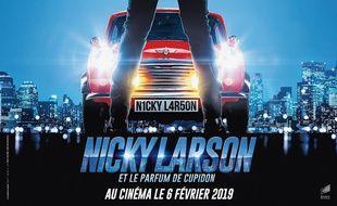 L'affiche du film «Nicky Larson et le parfum de Cupidon», de Philippe Lacheau.