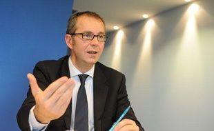 Eric Delobel, directeur de projet aéroport du Grand Ouest, dont le site devrait se situer à Notre Dame des Landes, le 27 novembre 2012.