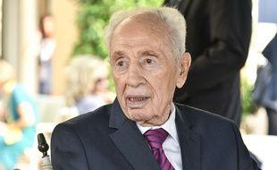 L'ancien président israélien Shimon Peres en Italie, le 2 septembre 2016.