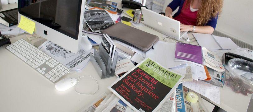La rédaction de Mediapart, en juillet 2010.