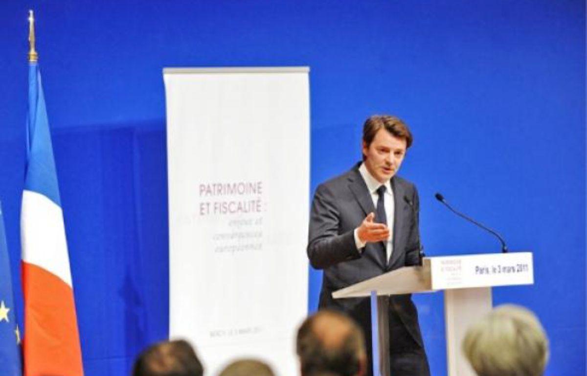François Baroin, ministre du Budget, hier lors du colloque organisé à Bercy. –  CHAMUSSY / SIPA