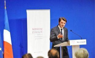 François Baroin, ministre du Budget, hier lors du colloque organisé à Bercy.