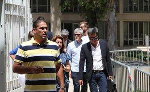 Issam Tej, à son arrivée au tribunal correctionnel de Montpellier, lundi.
