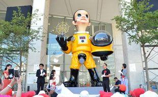 """La statue """"Sun child"""" ne fait pas l'unanimité à Fukushima. Photo du 3 août 2018."""