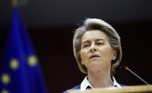 Ursula Von Der Leyen, la présidente de la Commission européenne, le 20 janvier 2021 au Parlement européen à Bruxelles.