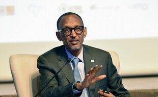 Paul Kagame à Abidjan (Côte d'Ivoire), le 14 octobre 2019.