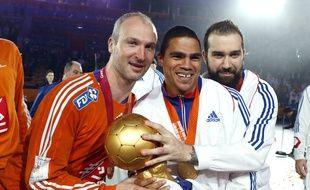Thierry Omeyer et Daniel Narcisse, à gauche