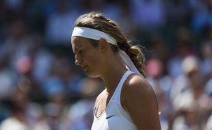 Victoria Azarenka lors du tournoi de Wimbledon, le 7 juillet 2017.
