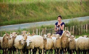 Marion Chomel, éleveuse de brebis dans le Pays Basque.