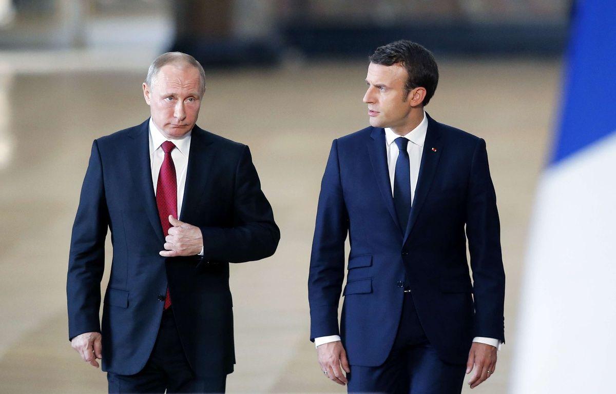 Vladimir Poutine et Emmanuel Macron en «tolérance mutuelle» le 29 mai 2017 à Versailles – J.E.E/SIPA